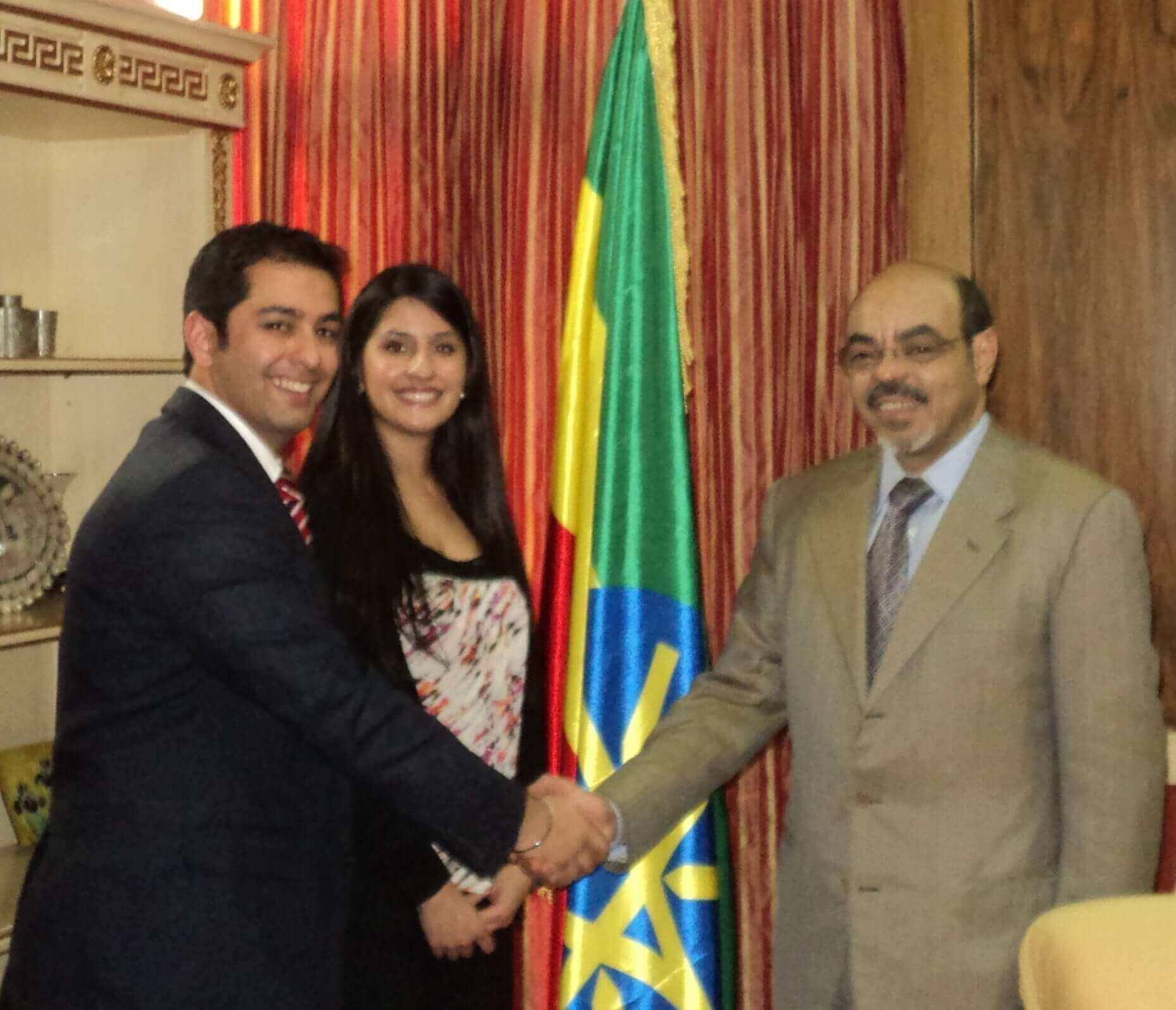 Rajan Nazran meets Pm Meles Zenawi