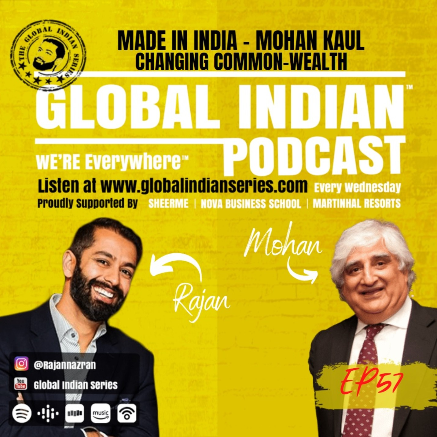 Rajan Nazran sits down with Mohan Kaul for the Global Indian Podcast