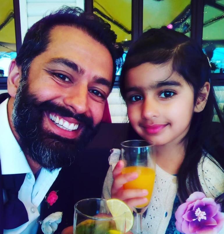 Rajan Nazran with young writer Larra Nazran
